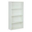 "Pro-Line II Prado 60"" 4-Shelf Bookcase with 3/4"" Shelves and 2 Adjustable and 2 Fixed Shelves in White"