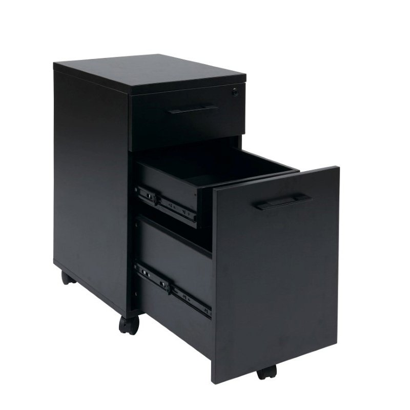 Pro-Line II Prado Mobile File in Black with Hidden Drawer and Castors