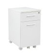 Pro-Line II Prado Mobile File in White with Hidden Drawer and Castors
