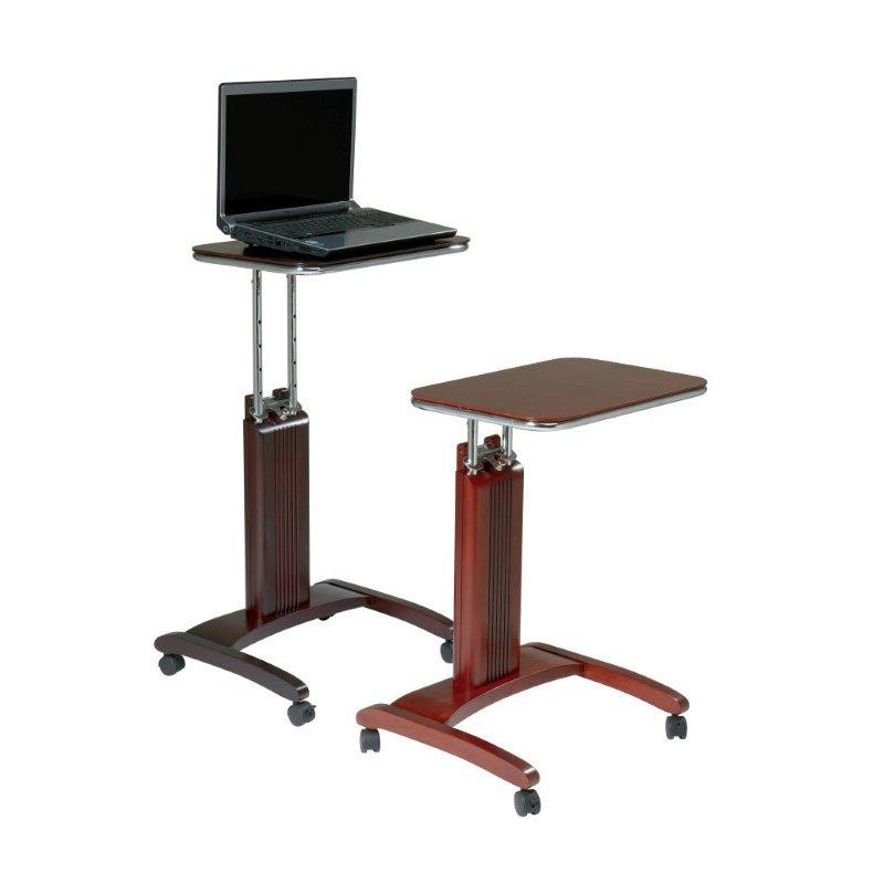 Pro-Line II Precision Laptop Stand in Mahogany Finish