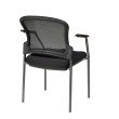 Pro-Line II ProGrid Contour Back Titanium Finish Visitors Chair with Arms