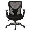 Pro-Line II ProGrid Mesh Back Managers Chair with Mesh Seat' Pivoting Arms' Ratchet Height Adjustable Back and Nylon Base with Chrome Accents