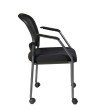 Pro-Line II Titanium Finish Rolling Visitors Chair with Casters