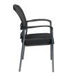 Pro-Line II Titanium Finish Visitors Chair with Arms and ProGrid Back