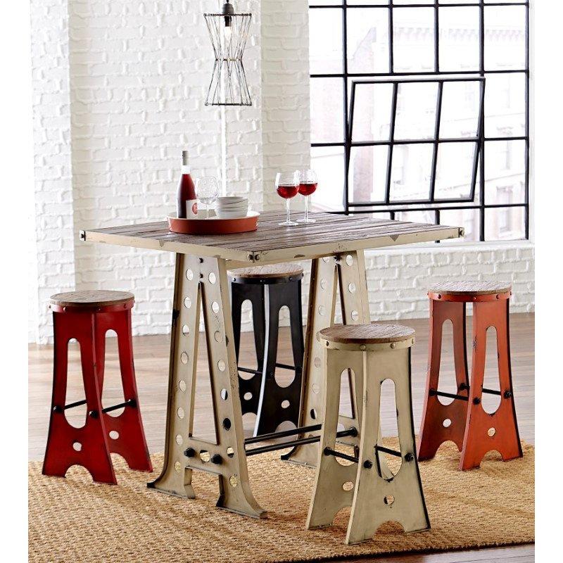 Progressive Furniture A-Frame Forge Zen Pub Table in White