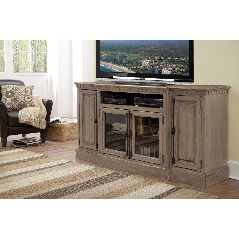 "Progressive Furniture Andover Court 68"" Console in Antique Mist"