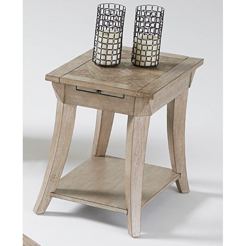 Progressive Furniture Appeal l T358 Chairside Table in Dark Poplar
