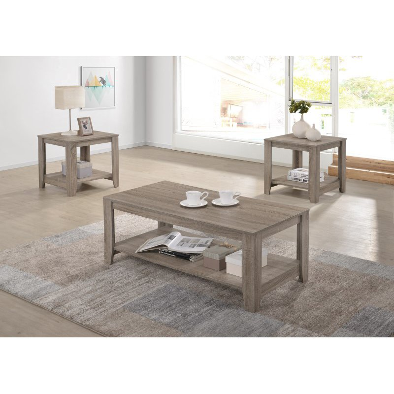 Progressive Furniture Barry Cocktail Table in Dark Taupe (T177-01)