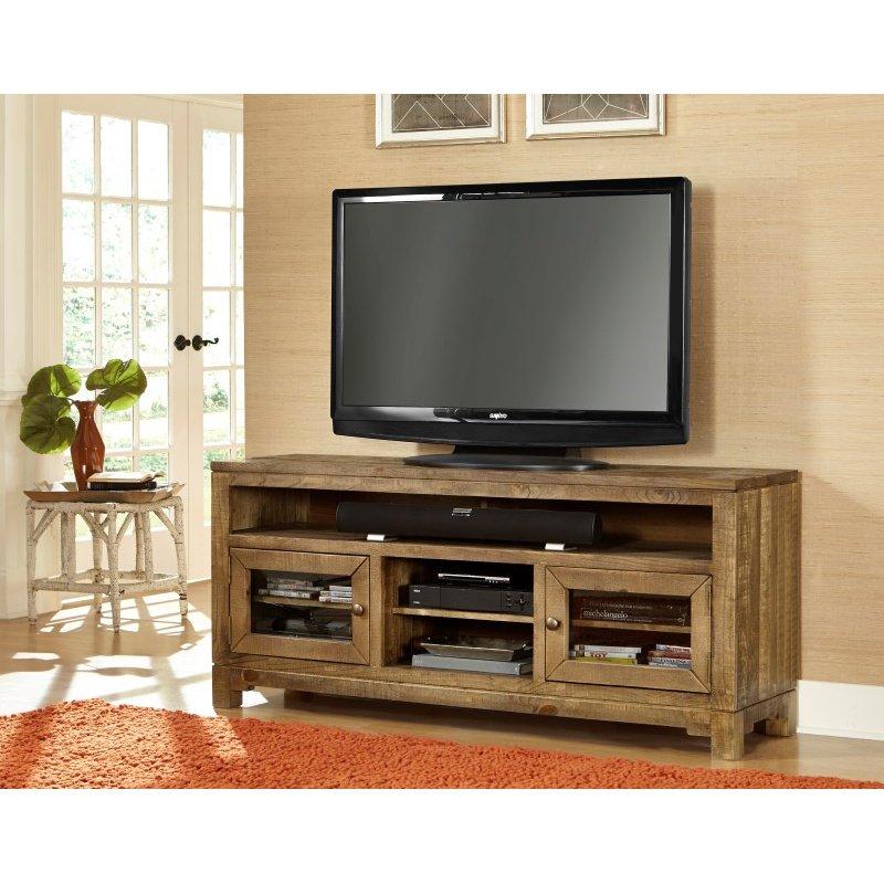 "Progressive Furniture Braxton Gate 64"" Console in Driftwood"