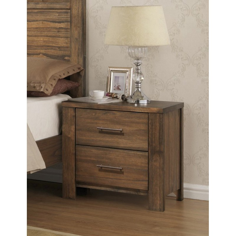 Progressive Furniture Brayden Nightstand in Satin Mindi (B104-43)
