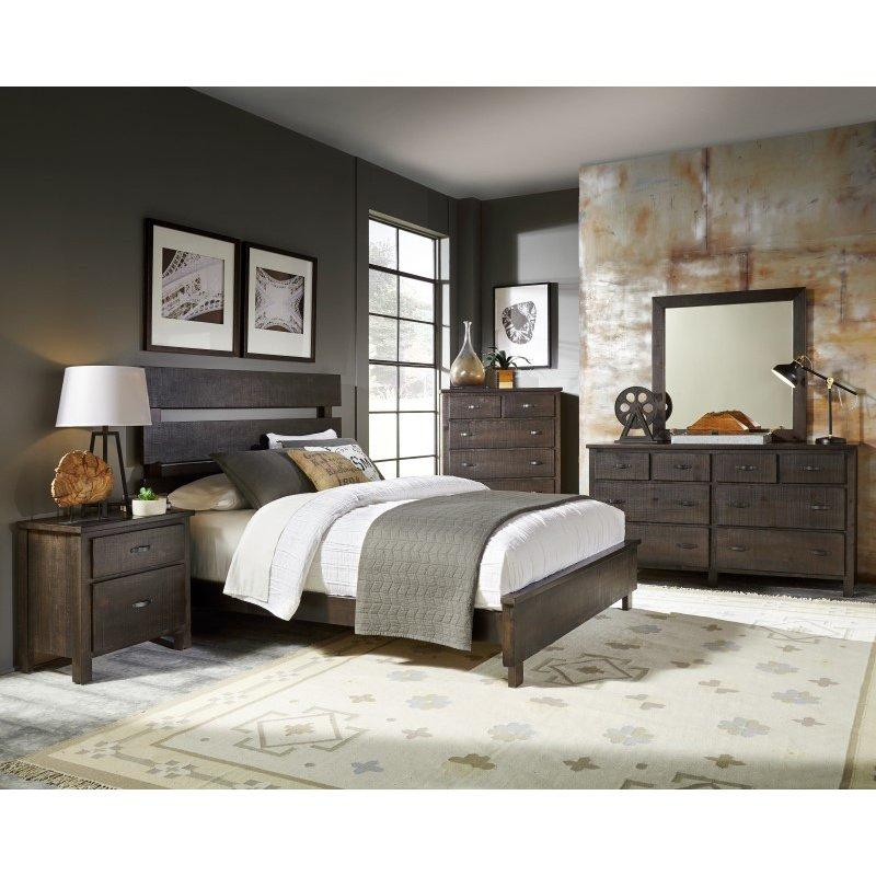Progressive Furniture Brickyard Chest in Scorched Pine (B645-14)
