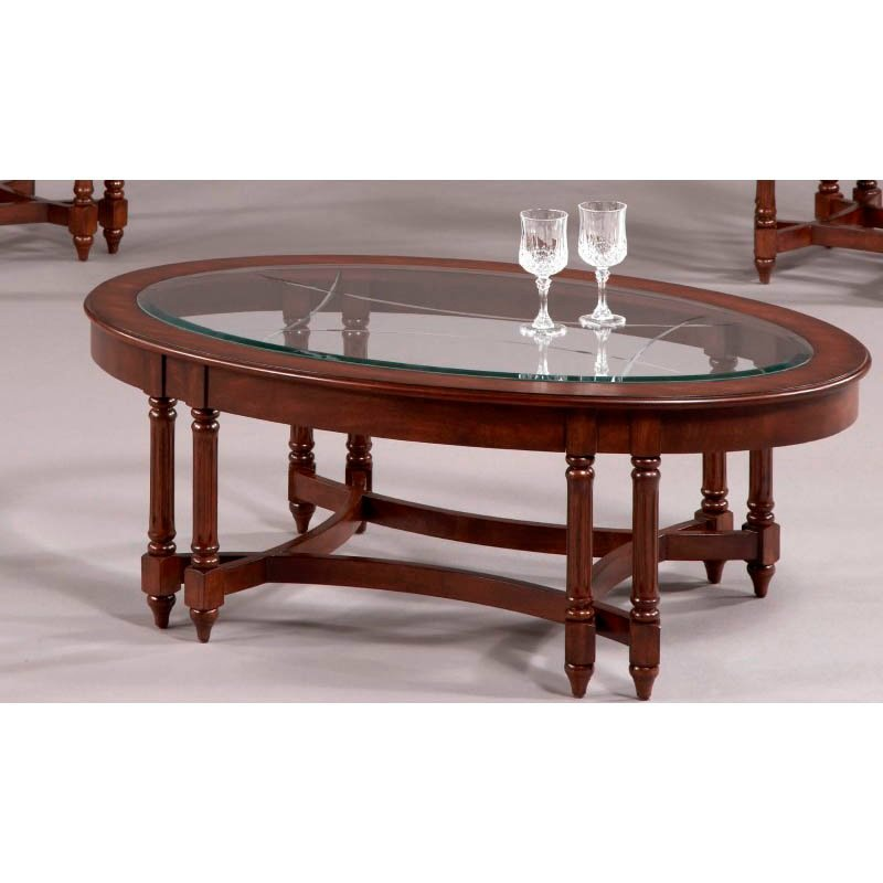 Progressive Furniture Canton Heights Oval End in Dark Berry