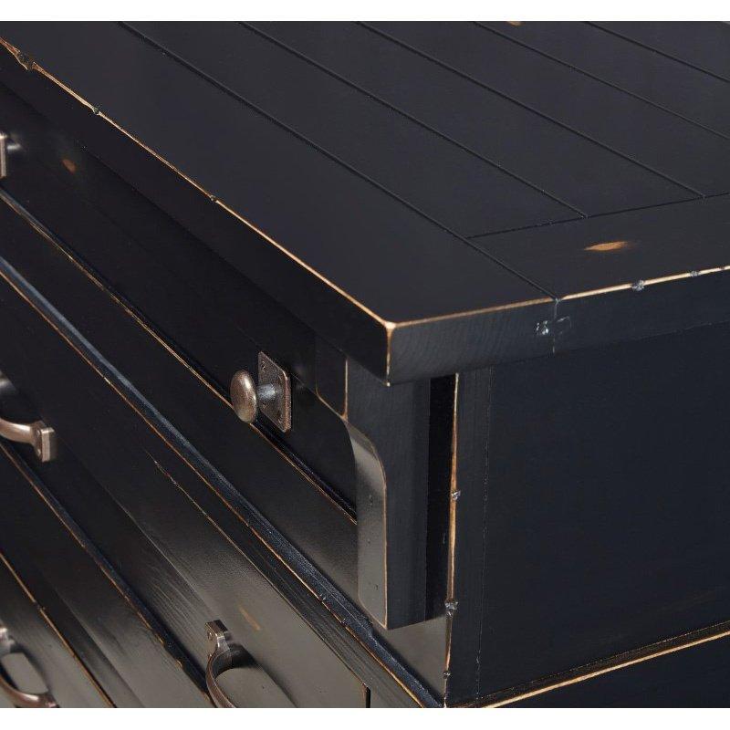 Progressive Furniture Chestnut Hill Drawer Dresser & Mirror in Weathered Black (B616-23/50)