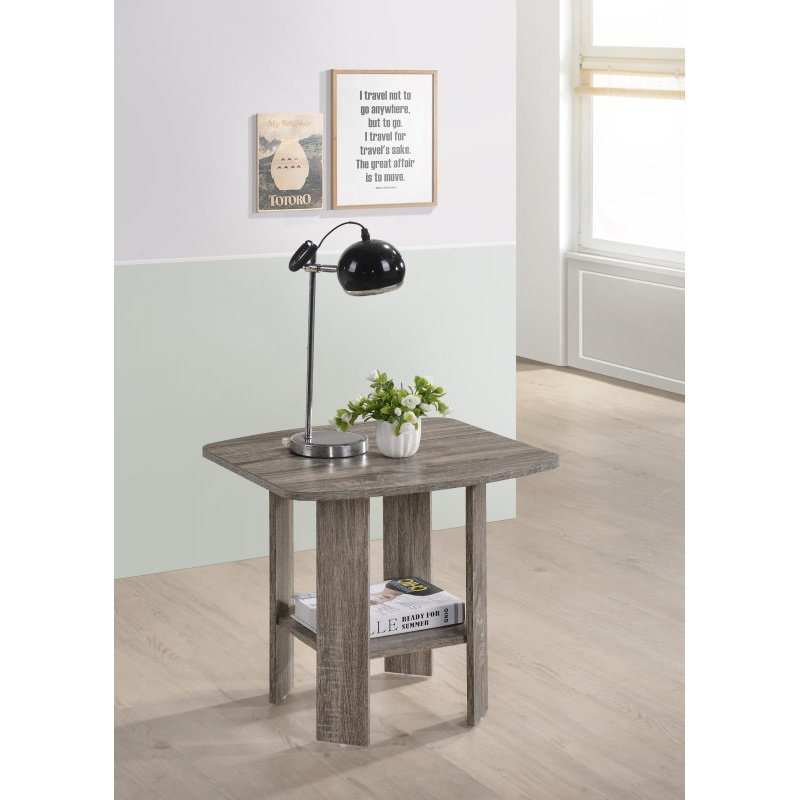Progressive Furniture Chip End Table in Darker Taupe (T178-04)