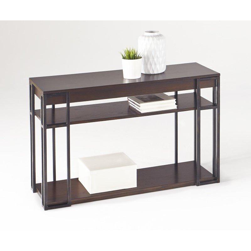 Progressive Furniture Citation Sofa/Console Table in Oak and Metal