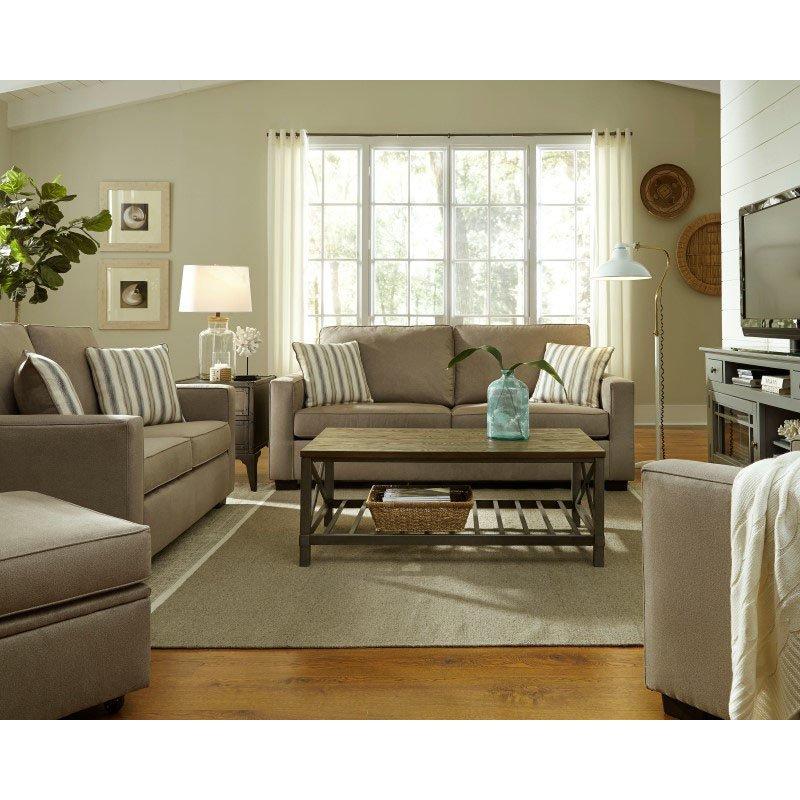 Progressive Furniture Colson Loveseat in Stone (U2021-LS)