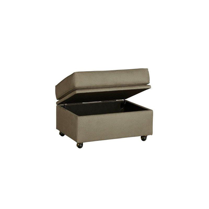 Progressive Furniture Colson Storage Ottoman in Stone (U2021-OT)