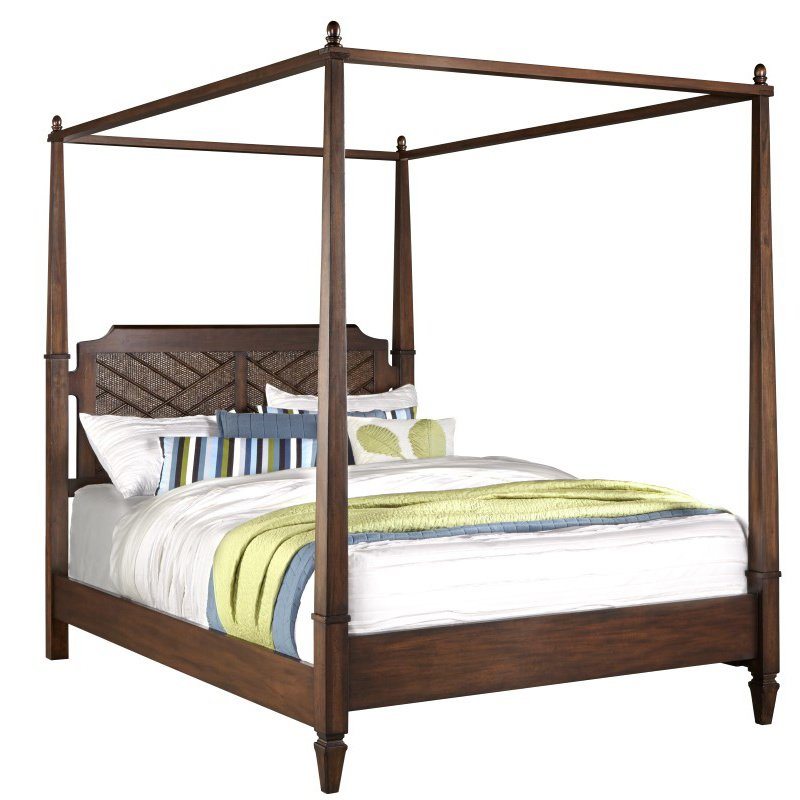 Progressive Furniture Coronado Complete King Canopy Bed in Sable (B130-80/82/78)