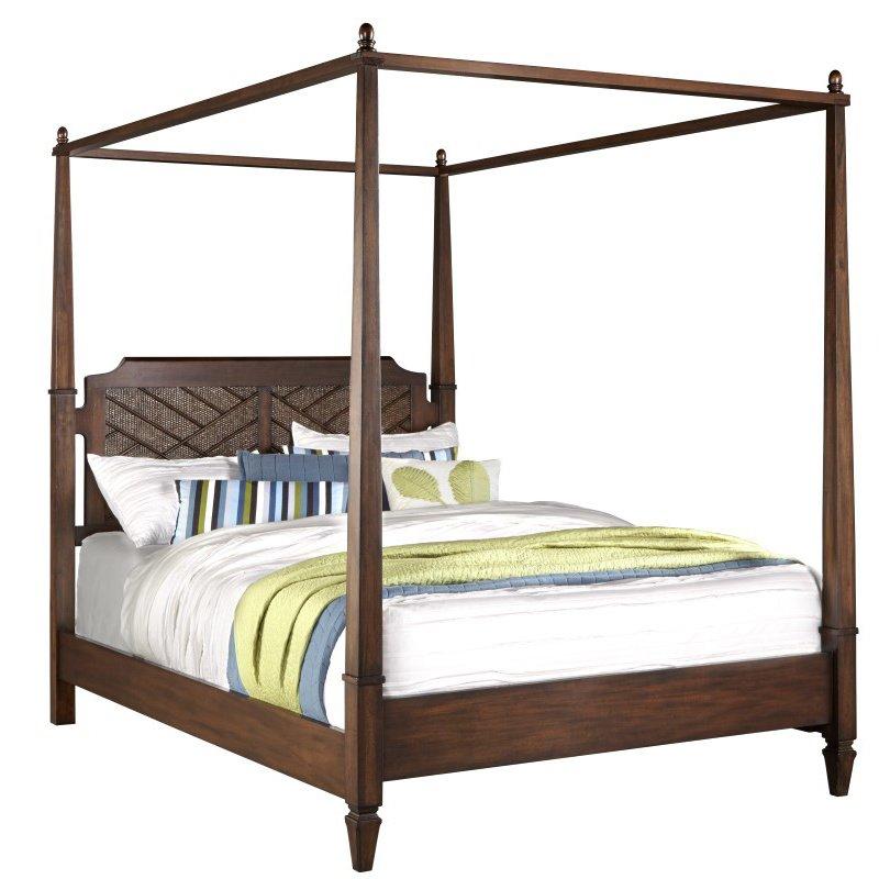 Progressive Furniture Coronado Complete Queen Canopy Bed in Sable (B130-60/62/78)