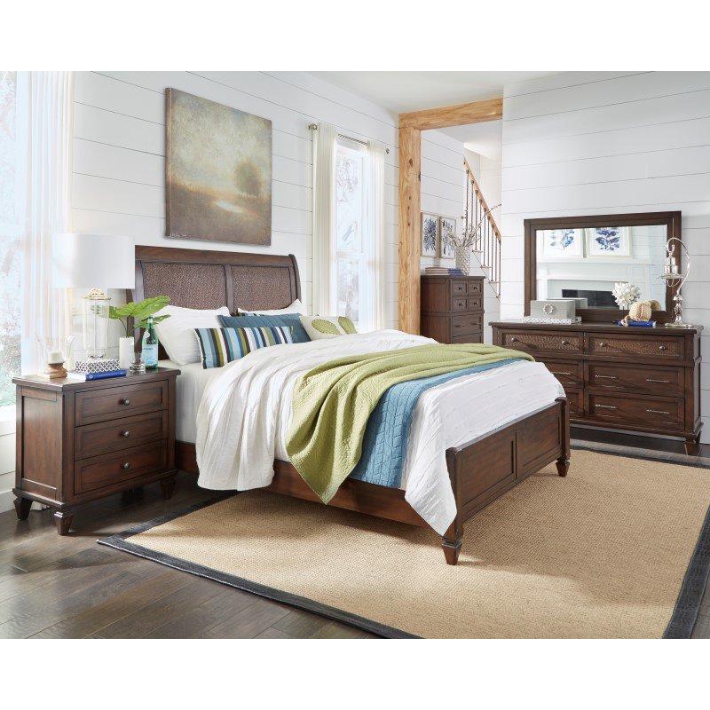 Progressive Furniture Coronado Complete Queen Panel Bed in Sable (B130-34/35/78)