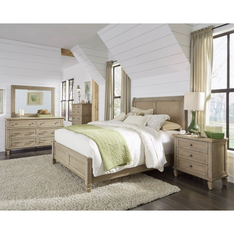 Progressive Furniture Coronado Three Drawer Nightstand in Flax (B131-43)