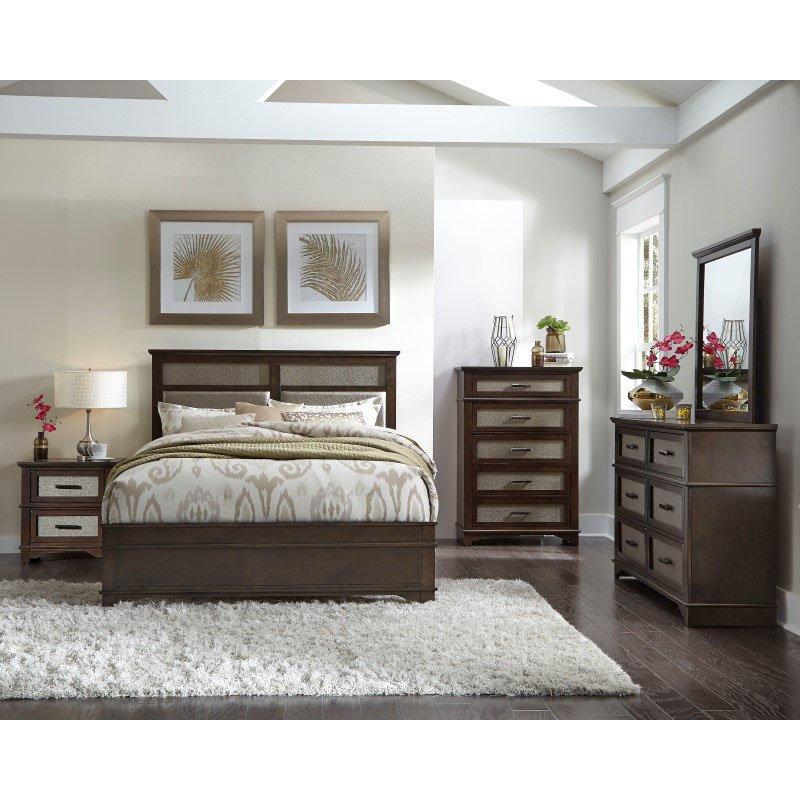 Progressive Furniture Dazzle Drawer Dresser in Chocolate/Champagne (B103-23)