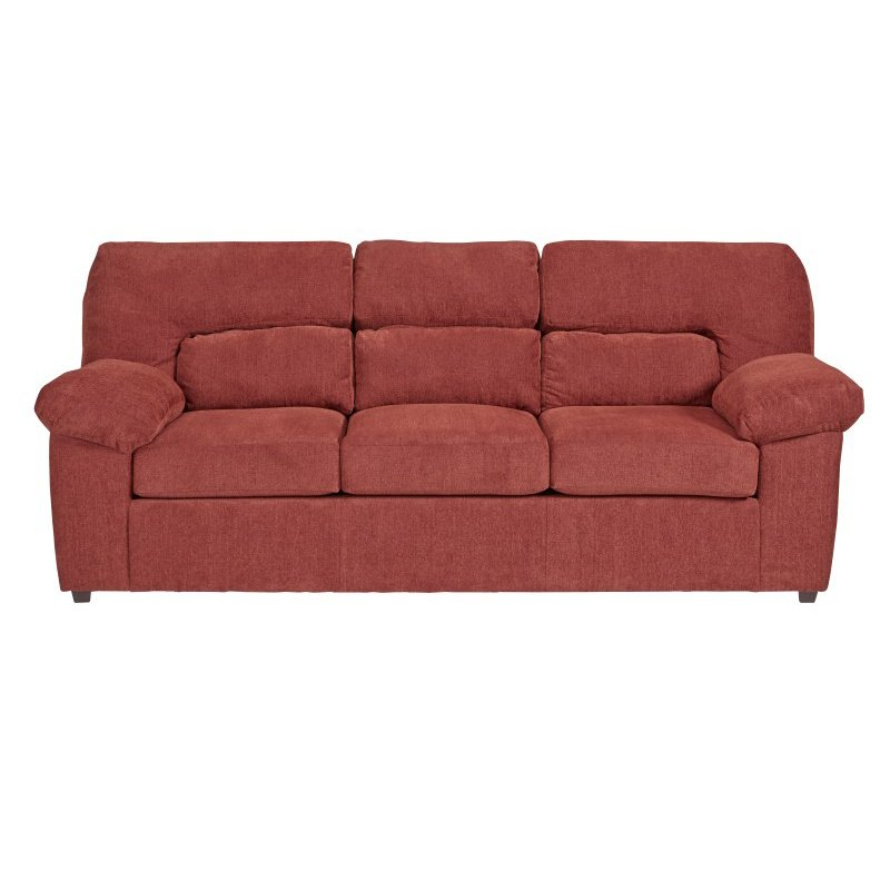 Progressive Furniture Duke Sofa in Red Chenille (U2071-SF)