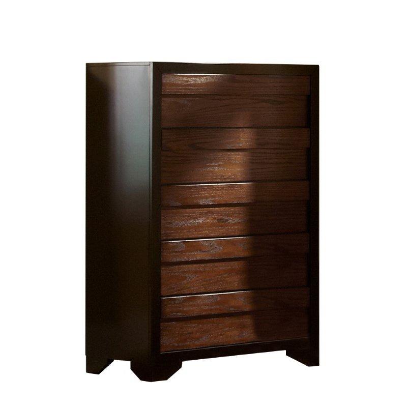 Progressive Furniture Echo Chest in Black/Dark Oak