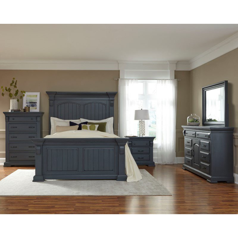 Progressive Furniture Everly Complete Queen Bed in Slate (B653-34/35/78)