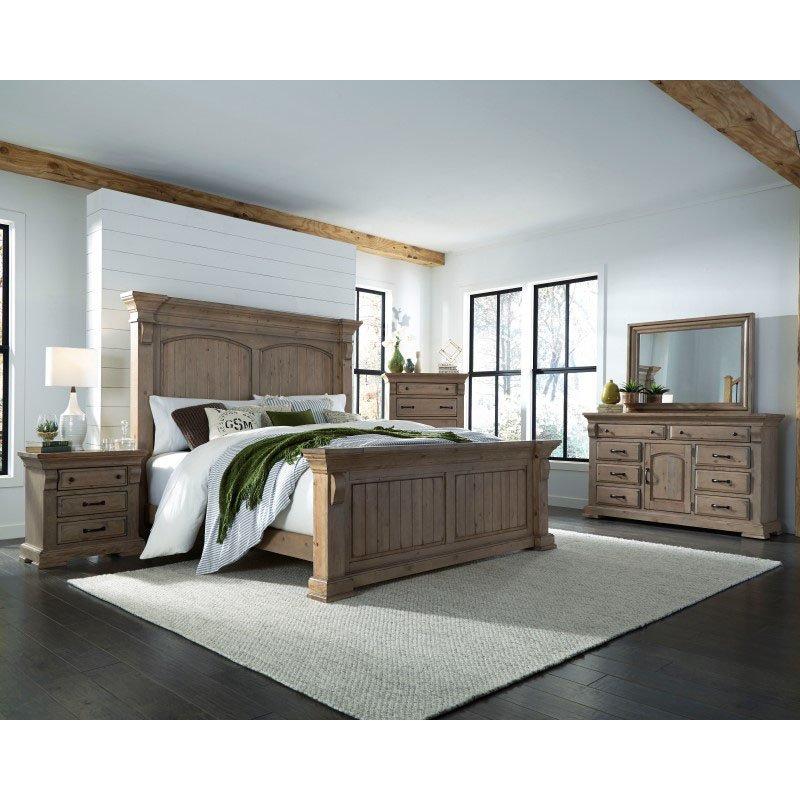 Progressive Furniture Everly Door Dresser & Mirror in Natural (B651-24/50)