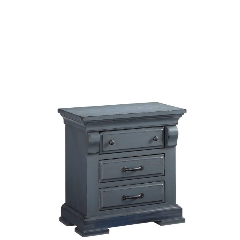 Progressive Furniture Everly Nightstand in Slate (B653-43)