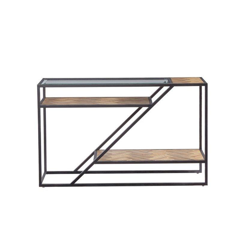 Progressive Furniture Galaway Sofa/Console Table in Fir Parquet (T312-05)