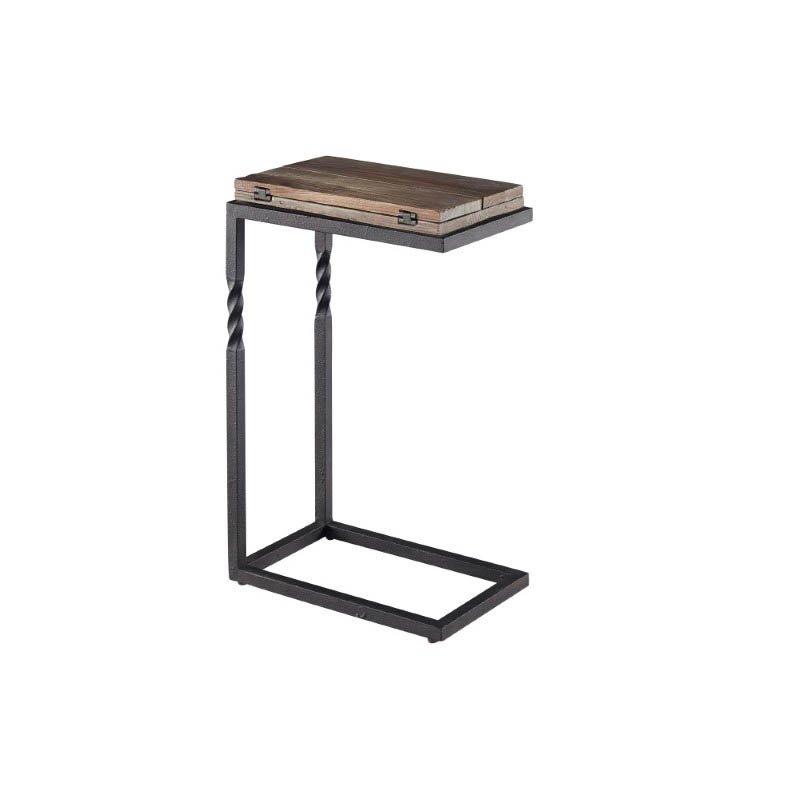 Progressive Furniture Gunner Lap Table in Black and Natural Top