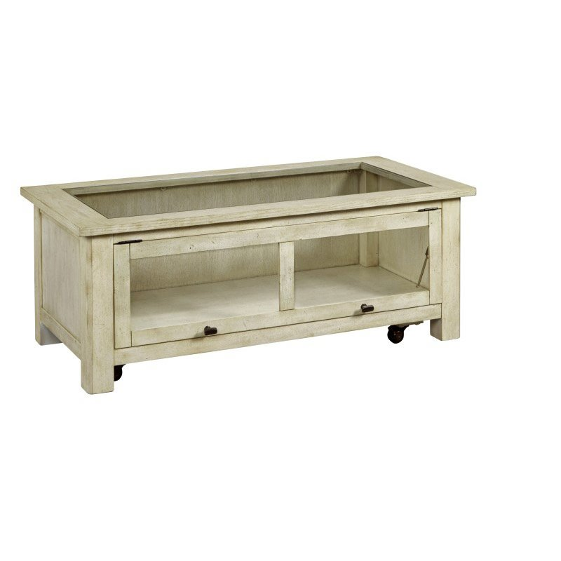 Progressive Furniture Hillsboro Village Display Cocktail Table in Saltstone White (T508-01)