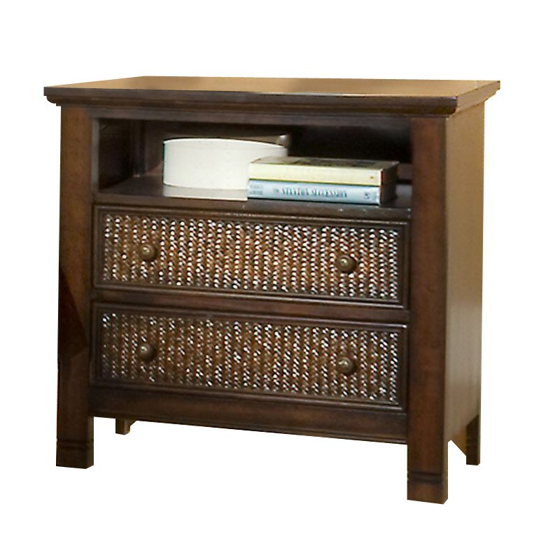Progressive Furniture Kingston Isle Nightstand in Havana Brown