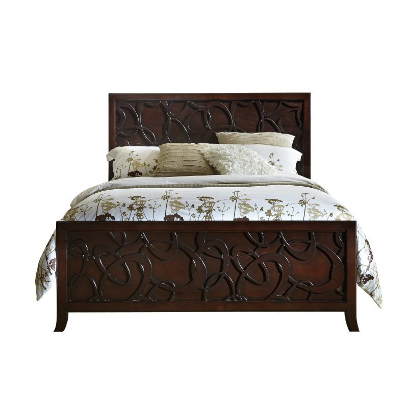 Progressive Furniture Links King Complete Bed in Chocolate