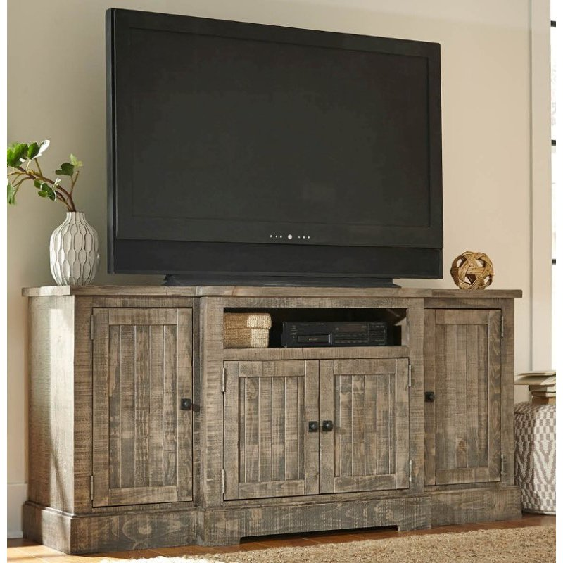 """Progressive Furniture Meadow 72"""" Console in Weathered Gray"""