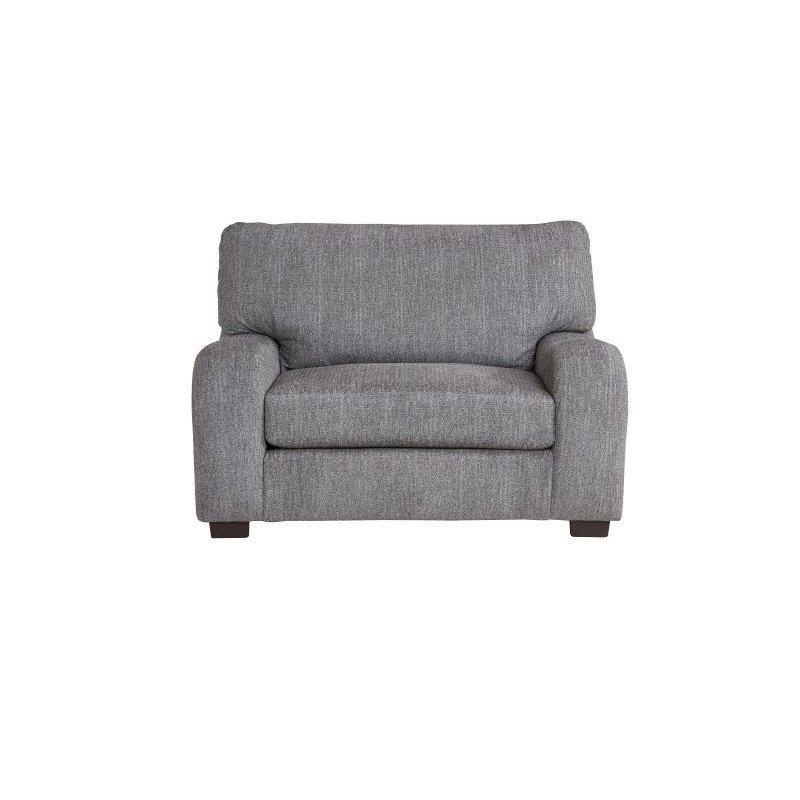 Progressive Furniture Nora Chair & A Half in Salt & Pepper Chenille (U2082-CH)