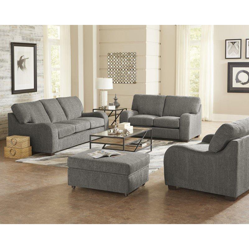 Progressive Furniture Nora Loveseat in Salt & Pepper Chenille (U2082-LS)