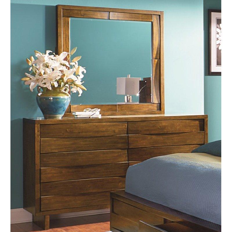 Progressive Furniture North Shore Mirror in Acorn
