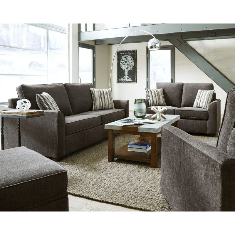 Progressive Furniture Remi Loveseat in Charcoal (U2042-LS)