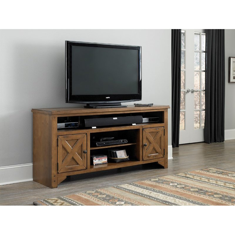 """Progressive Furniture Rialto 64"""" Console in Rustic Pine"""