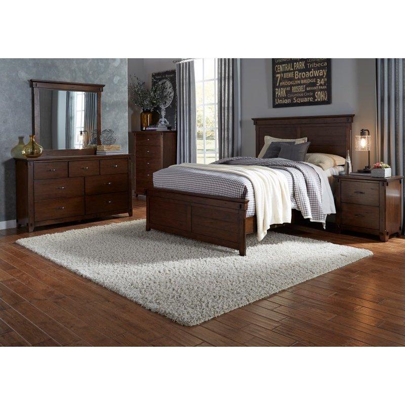 Progressive Furniture Ridgefield Nightstand in Saddle (B102-43)