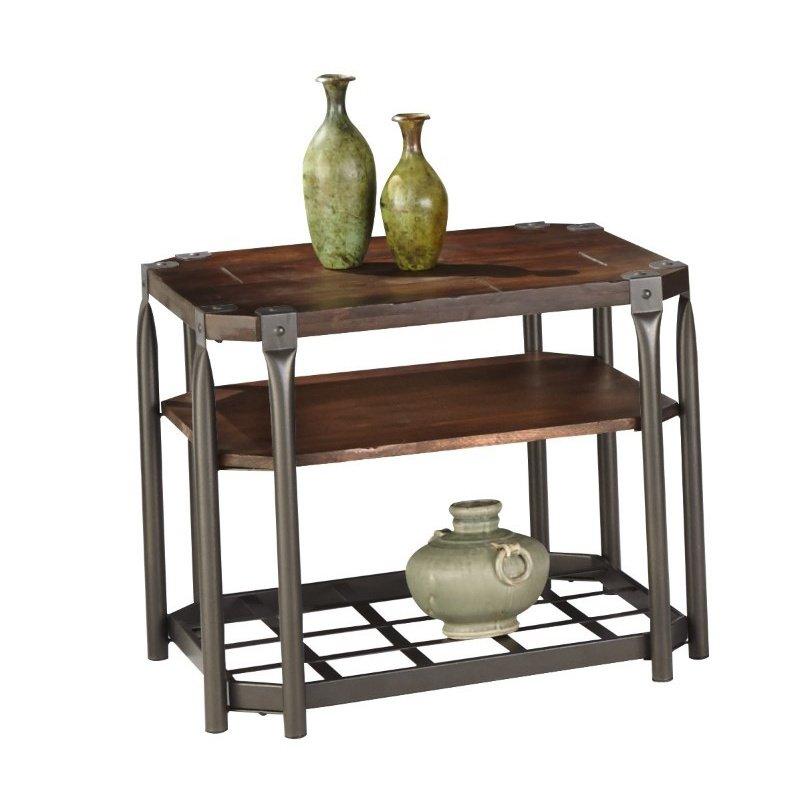 Progressive Furniture Rio Grande Rectangular End Table in Prestige Pine