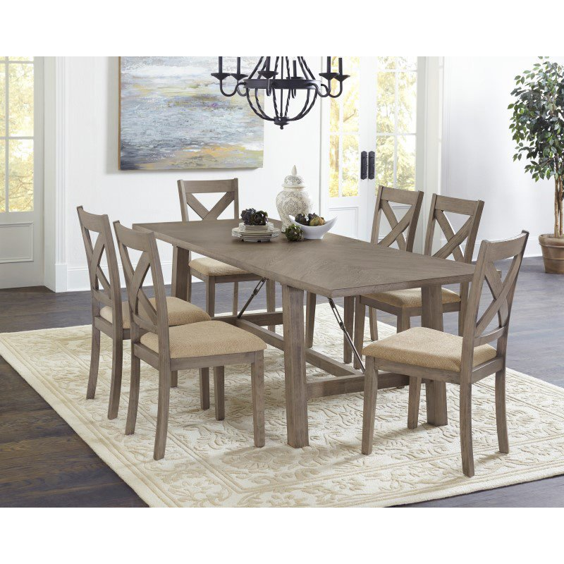 Progressive Furniture Saxton Dining Chairs (Set of 2) in Mystic Gray (D853-61)
