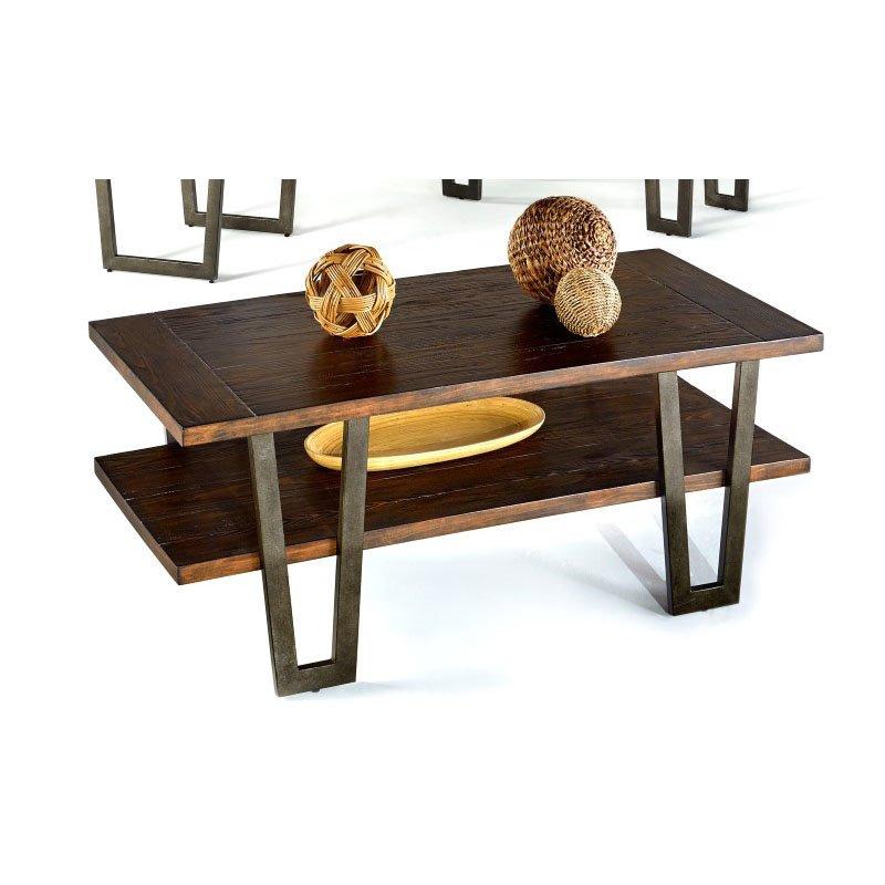 Progressive Furniture Sedona Rectangular Cocktail Table in Wire Brushed Light Elm