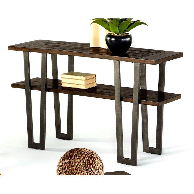 Progressive Furniture Sedona Sofa Table in Wire Brushed Light Elm