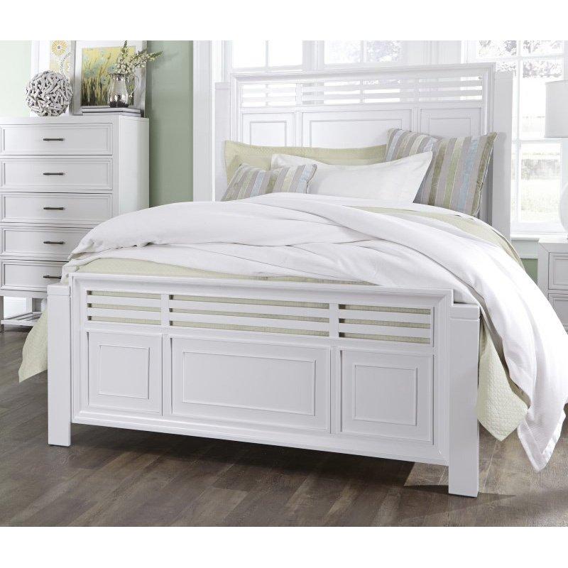 Progressive Furniture Serenade 5/0 Queen Panel Complete Bed in Tuxedo White (B124-34/35/78)