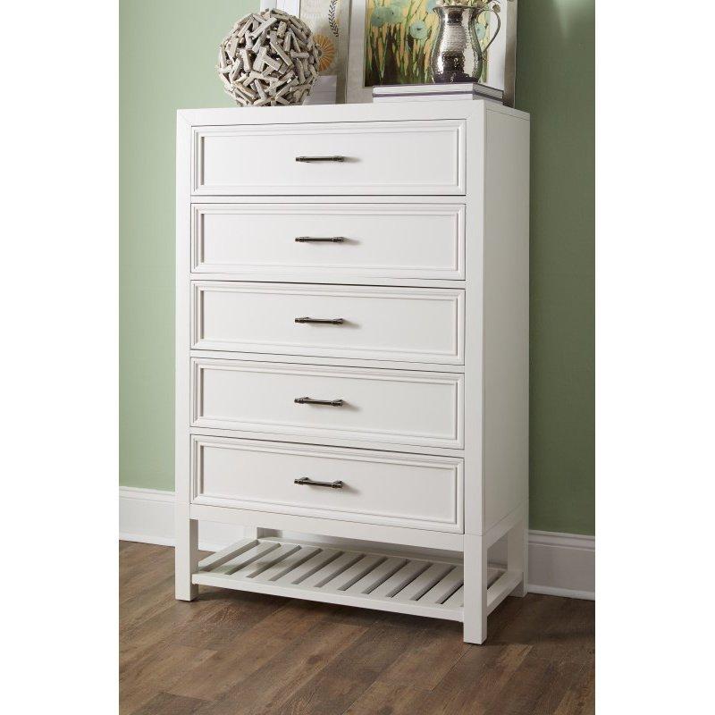 Progressive Furniture Serenade Chest in Tuxedo White (B124-14)