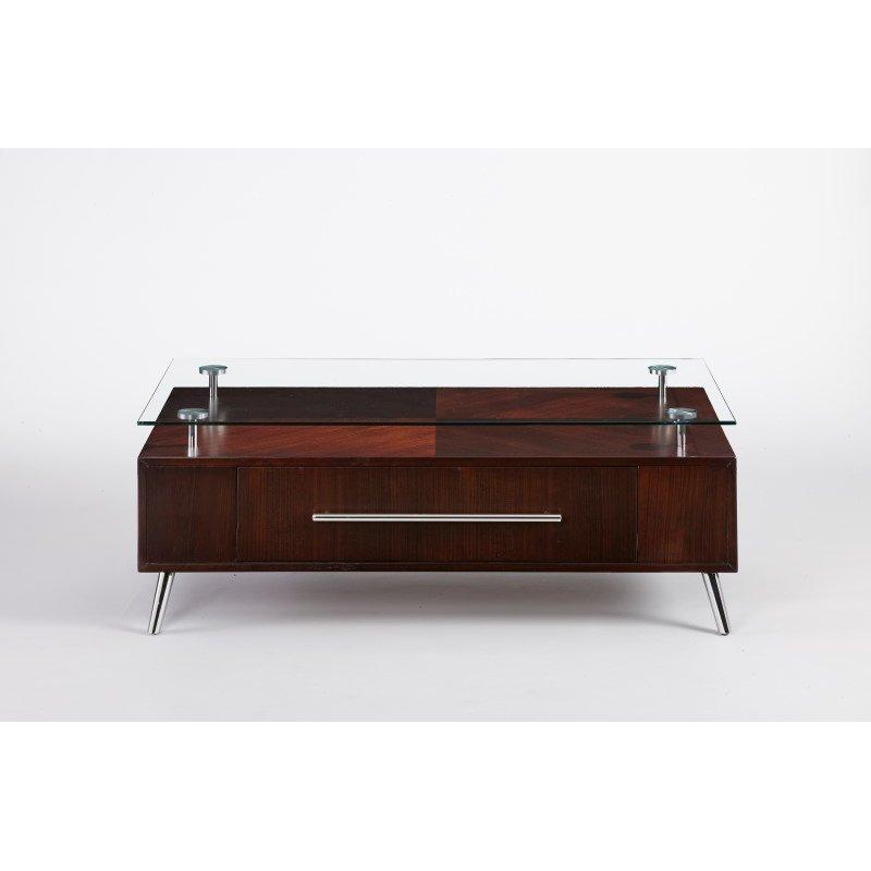 Progressive Furniture Studio City Rectangular Cocktail Table in Dark Mozambique (T456-01)